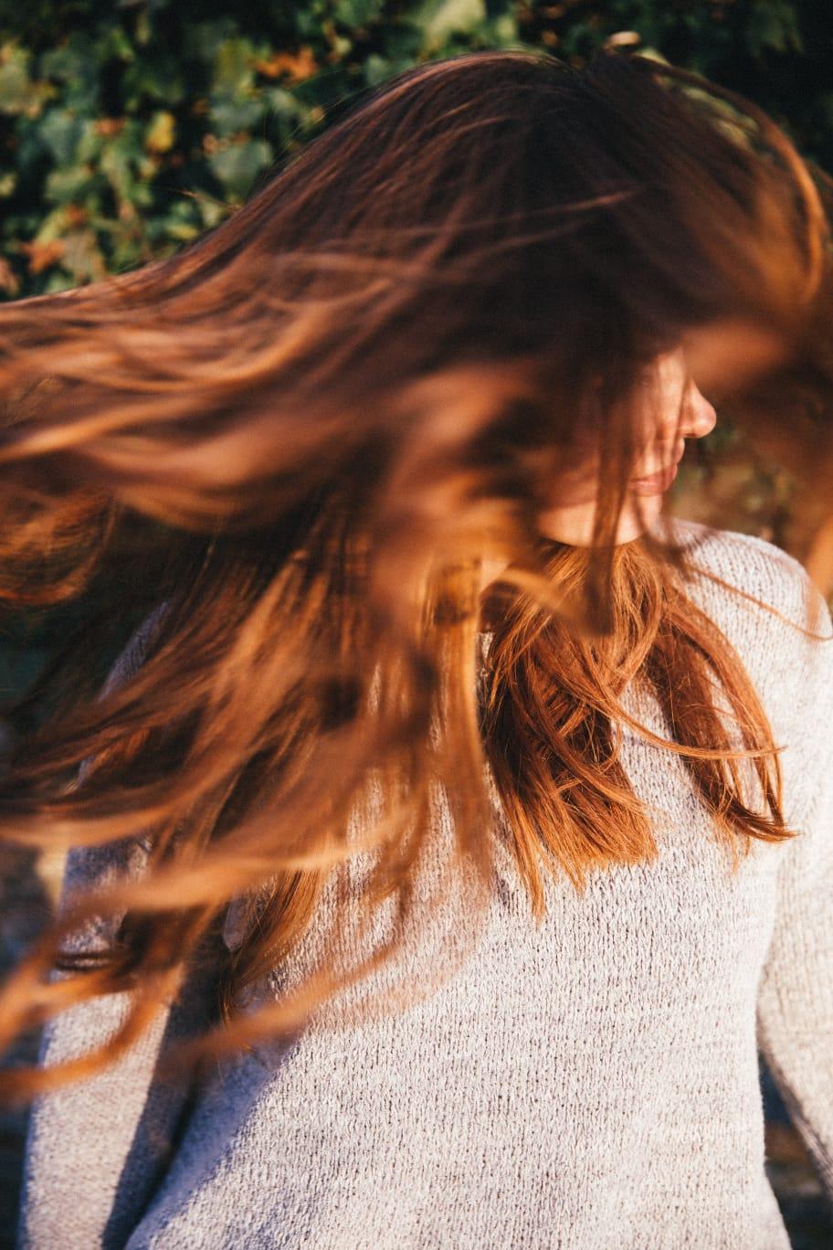Barva + foukaná - dlouhé vlasy