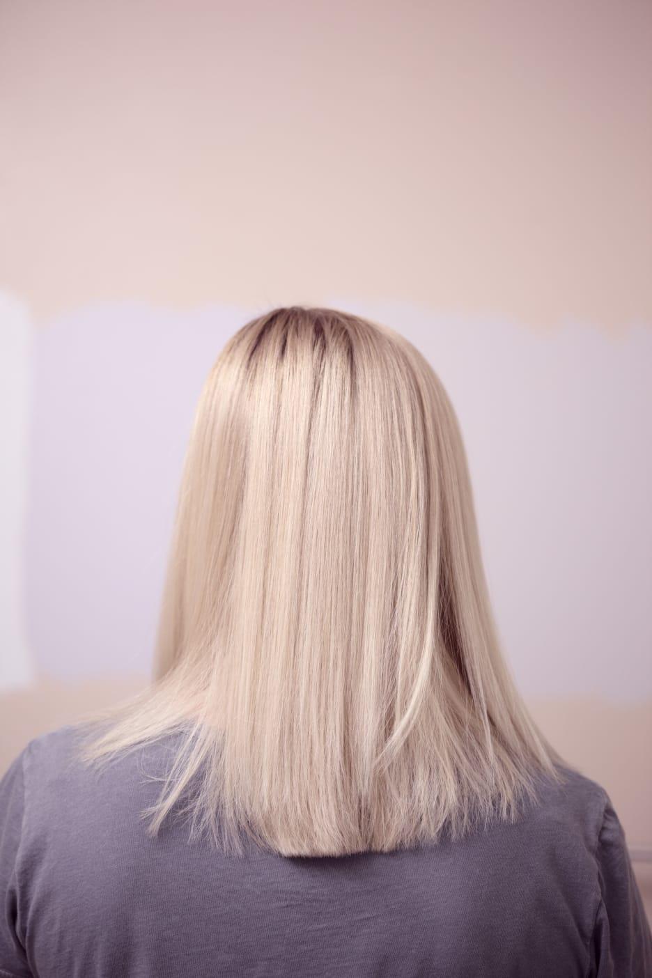 Barva + foukaná - polodlouhé vlasy