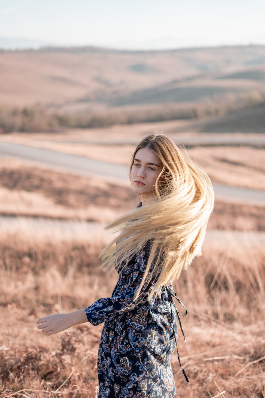 Melír + foukaná - dlouhé vlasy
