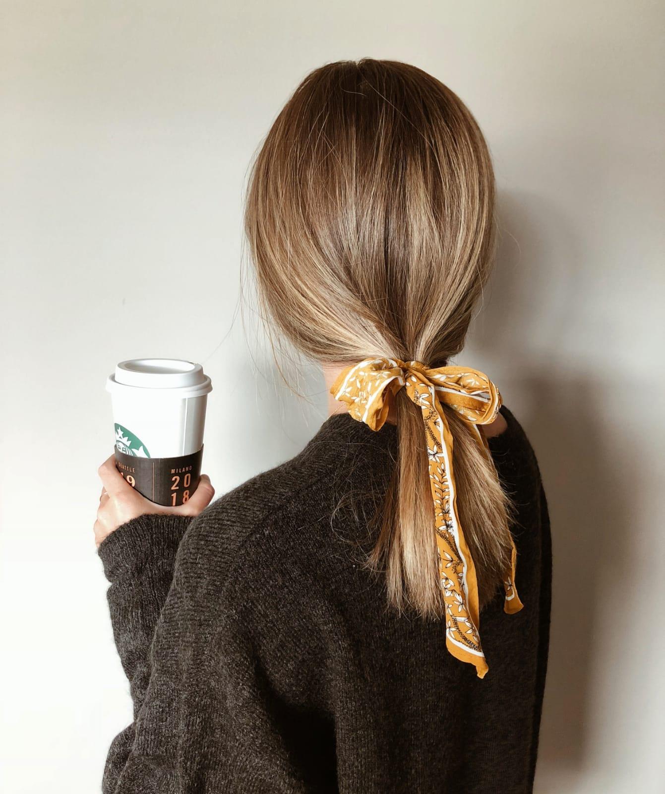 Air-touch melír polodlouhé vlasy