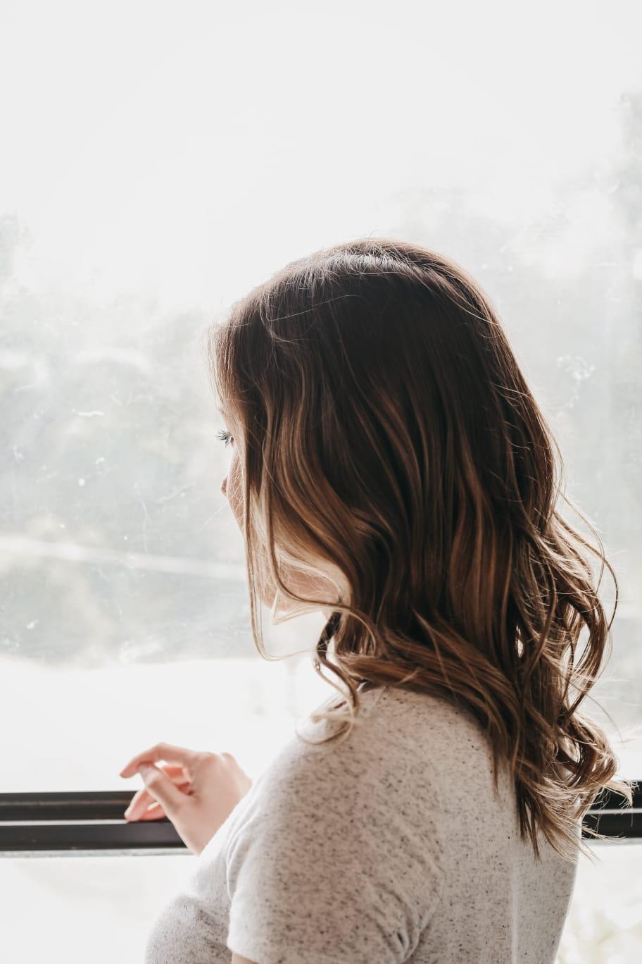 Klasická balayage - polodlouhé vlasy